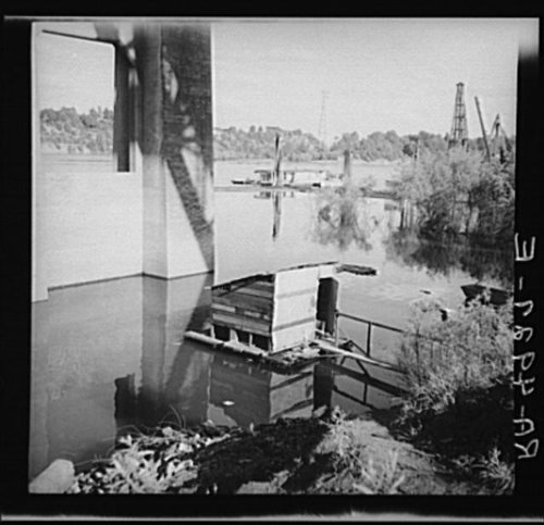 Photo: Privy floating in Willamette River. Hooverville,Portland,Oregon