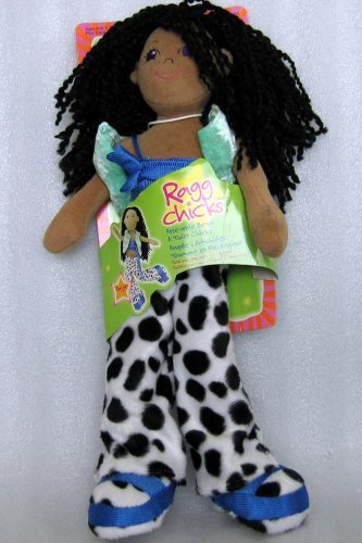 ragg chicks paige doll aa - pose-able bend  u0026 twist plush doll  2002