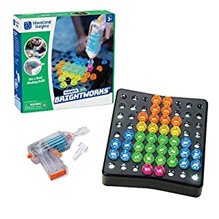 Educational Insights Design & Drill BrightWorks – 84-Piece Light Up Drill Set, STEM Learning with Toy Drill: Ages 3+
