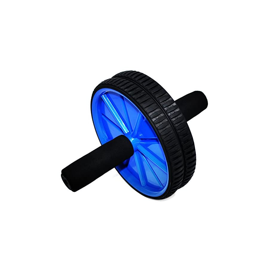 Fitness Master Ab Wheel Roller with Knee Mat Easy Assembly