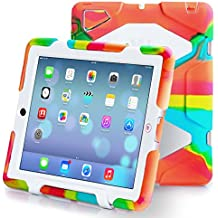 Ipad 2/3/4 Case, Kidspr Ipad CaseNewHot Super Protect [Shockproof] [Rainproof] [Sandproof] with Built-in Screen Protector for Apple Ipad 2/3/4 (Ice/White)