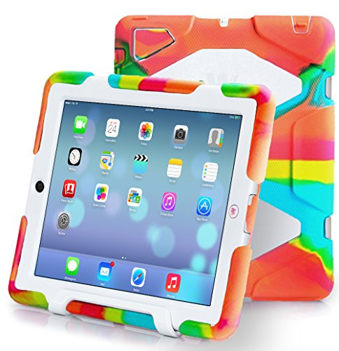 Ipad-234-Case-Kidspr-Ipad-CaseNewHot-Super-Protect-Shockproof-Rainproof-Sandproof-with-Built-in-Screen-Protector-for-Apple-Ipad-234-PinkWhite-¡­