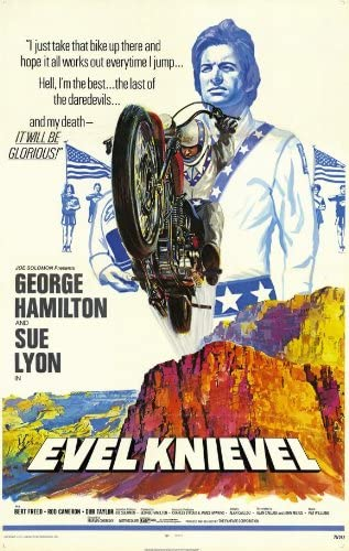 Evil Knievel Colour Door Poster