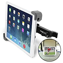 """[Lifetime Warranty] Okra® Universal 360° Degree Rotating Tablet Car Headrest Grip Mount for iPad, Galaxy, & all Tablets up to 11"""" (Retail Packaging)"""