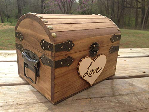 (Rustic Wedding Chest - Love Letter Chest - Love Notes Chest - Rustic Wedding - Wishing Tree - Wishing Well Chest - Keepsake Box - Love)