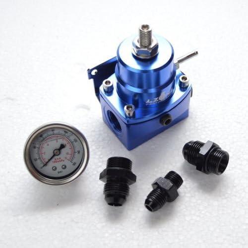PAG Motorsport Benzindruckregler Blau DASH8 mit Manometer einstellbar AN8