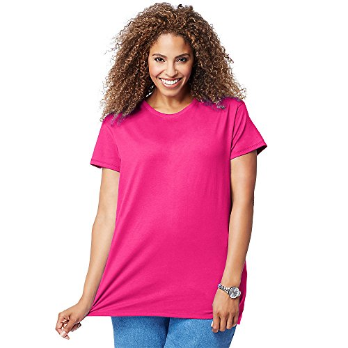 (Just My Size Cotton Jersey Short-Sleeve Scoop-Neck Women's Tee)