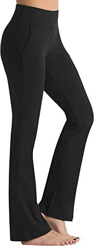 FITTIN Bootcut Yoga Pants for Women with Pockets - Bootleg Workout Pants for Women Flare Work Pants Tummy Control Dress Pants
