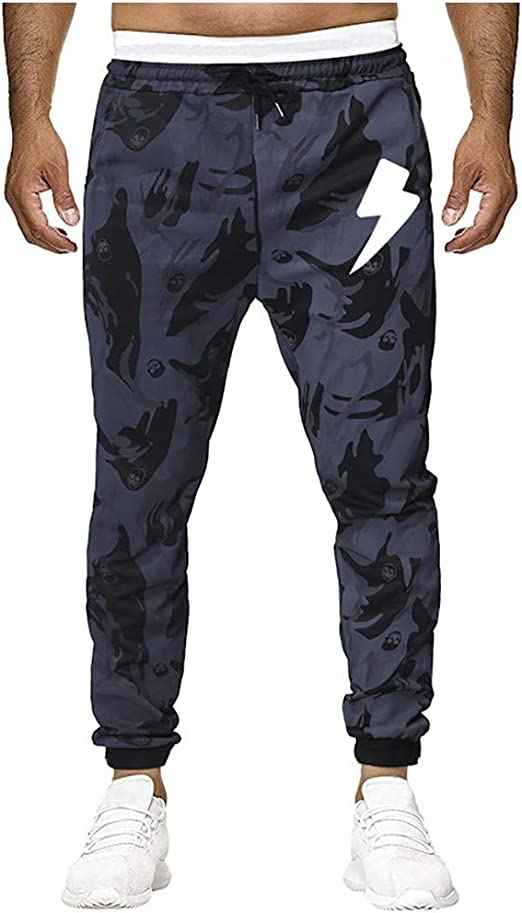 CLOOM Pantalón De Deportes para Hombre Casual Pantalones De ...