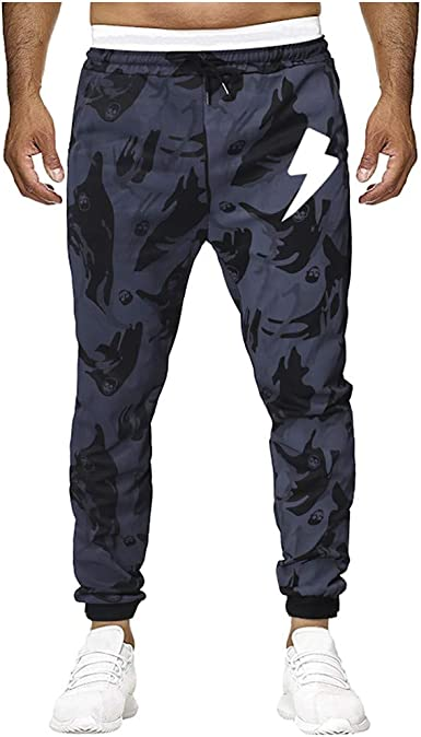 FELZ Pantalones para Hombre, Pantalones De Chándal A Rayas ...