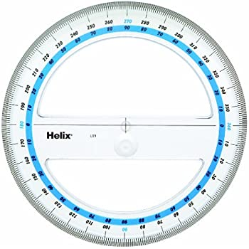 Helix 6-Inch 360 Degree Professional Protractor (12091)
