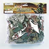 95+ Piece Set Tan vs. Green Plastic Army Men 1/35th Soldier Figures and Accessories; Tanks, Planes, Fences, Trees, Cactus