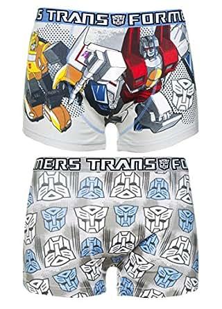 U Wear Ltd Mens 2pk Transformers Boxer Shorts