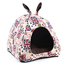 Komia Cute Cave Igloo for Small Dog Indoor House Bed Pet Warm Soft Bed