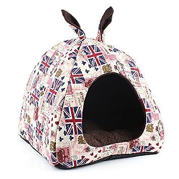 komia Cute Cueva iglú para pequeño perro Interior Casa Cama Mascota Cálida y suave Cama: Amazon.es: Productos para mascotas
