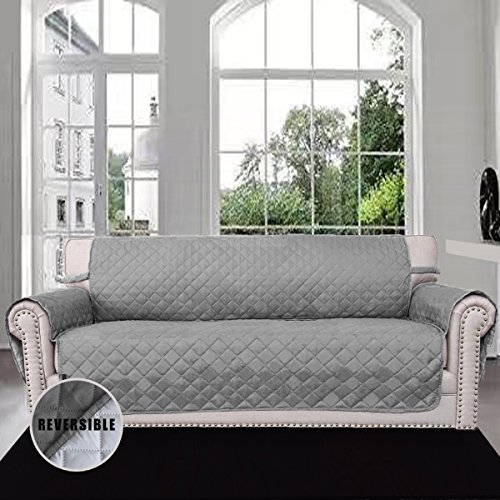 Attirant Sofa Covers, Slipcovers, Reversible Quilted Furniture Protector, Improved  Anti Slip Cover With Elastic Strap And Foam, Micro Fabric Couch Shield, ...