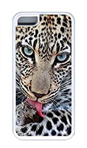 iPhone 5C Case, Personalized Custom Rubber TPU White Case for iphone 5C - I Am Watching You Cover