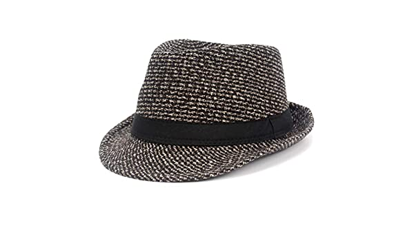 d3c1da361e6 Fedoras Fashion Knitting Dot Jazz Small Fedora Hat Men Women's Hats Popular  Vintage Caps Brown at Amazon Men's Clothing store: