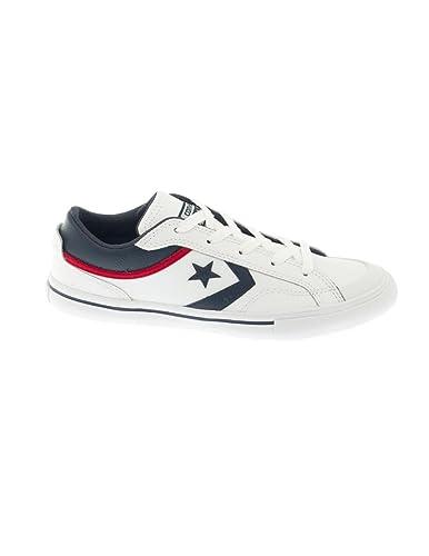 6a535f1d4b3d Converse -656103C- Pro Blaze - Leather Ox - White Navy - Junior ...