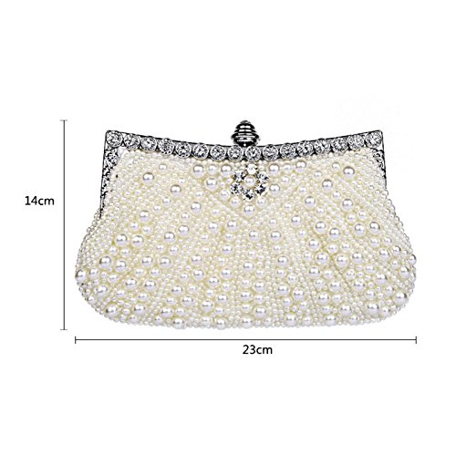 Clutch Women's Bag Evening Bridal Bag Bag Elegant Wedding Rhinestone Clutch Pearl Handbag Pink Bag GSHGA Ladies Clutch 4SfOtx