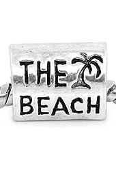 """ the Beach Charm"" Bead Spacer for Snake Chain Charm Bracelet"