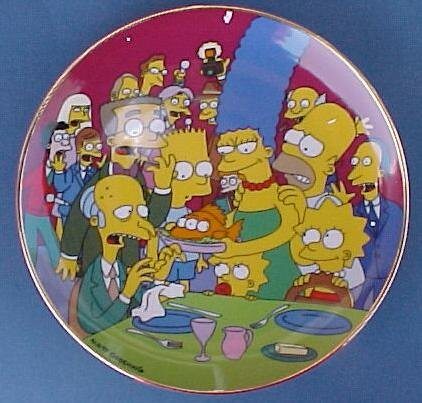 - Simpsons Three Eyed Fish Collector Plate