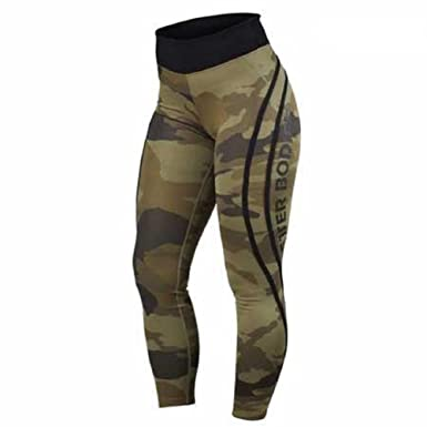 b8bbfa43ea575 Better Bodies High Waist Green Camo Tights Leggings (MEDIUM, Green Camo)