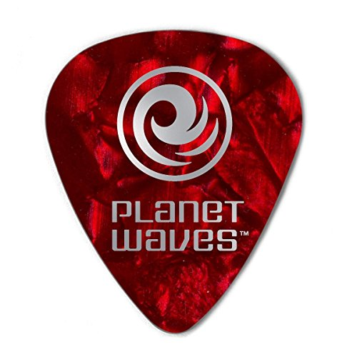 Planet Waves Red Pearl Celluloid Guitar Picks, 25 pack, ()
