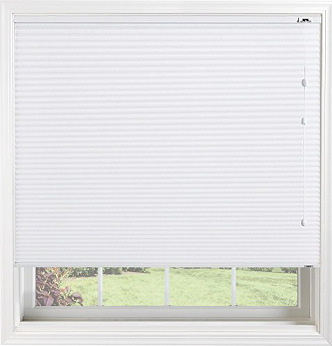 tom Light Filtering Cellular Shade Fabric with Cord Lift, Double Cell Daybreak II True White, 36