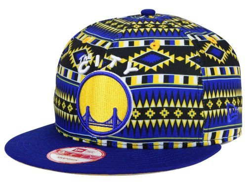 Hat Print Era New - Golden State Warriors New Era NBA HWC Tri-All Print 9FIFTY Snapback Cap Hat