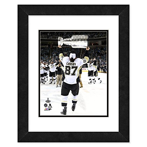 (NHL Pittsburgh Penguins Sidney Crosby Picture Frame with The Stanley Cup Game 6 of 2016, Black)