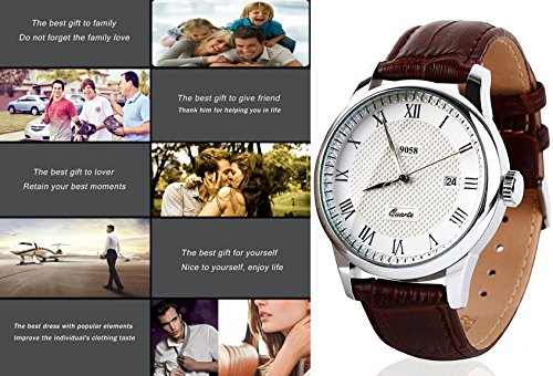 Mens-Analog-Quartz-Wrist-Watch-Classic-Casual-Watch-with-Brown-Leather-Band-Large-Face-Watches-for-Men