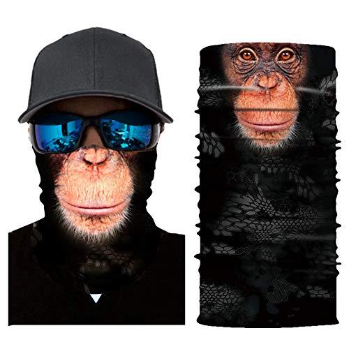 - Seamless Face Mask  Bandana for Dust  Headband   Magic Scarf  Head Wrap  Windproof Neck Warmer  Neck Gaiter  Balaclava  Headwear   Animal Sweatband For Music Festivals, Raves, Outdoors (gorilla)