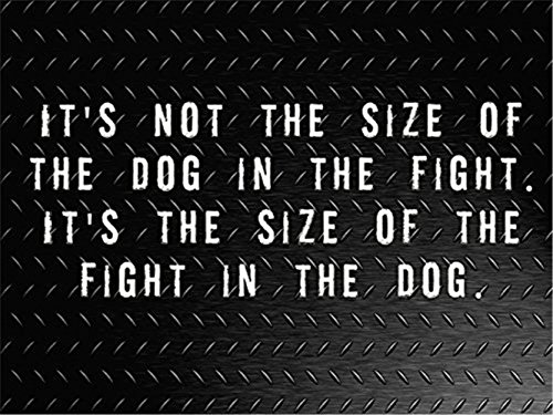 Rabbitdecals Quote Wall Decal Sticker Nursery Vinyl Saying Lettering Wall Art Inspirational Wall Decor Its not The Size of The Dog in The Fight It's The Size in The Dog
