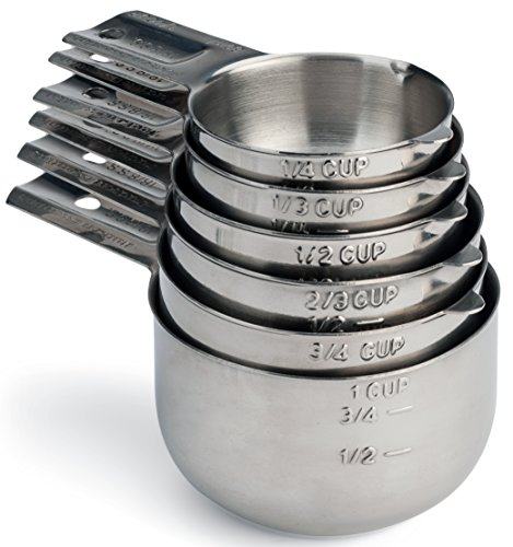 Hudson Essentials Stainless Steel Measuring Cups Set - 6 Pie