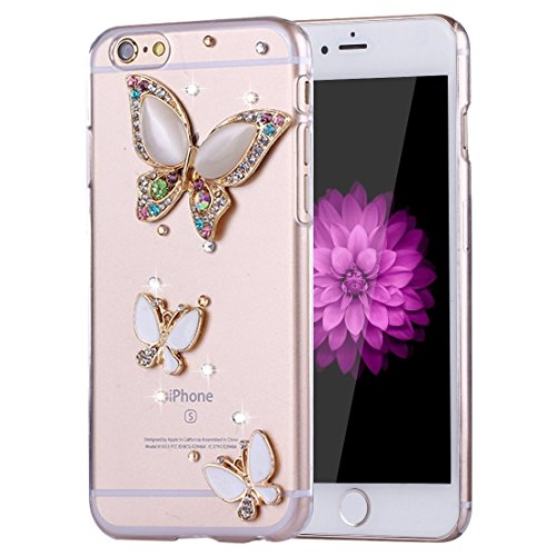 Phone Taschen & Schalen Für iPhone 6 Plus & 6s Plus Diamond verkrustete Sonnenblumen Perle Bell Pattern PC Schutzhülle Back Cover ( SKU : IP6P1210C )