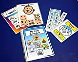 Autism Daily Schedule Set Favorites - I Want Choice Board - 106 Pre-cut PECS for Autism with velcro - Bathroom Schedules and Social Story