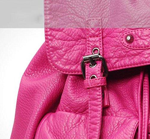 Pink Pompage Laver Cuir Femmes Collège En Doux À Sac Vent Ceinture Mode Loisirs Loisirs Bandoulière ZHXUANXUAN xTSqw8Z8
