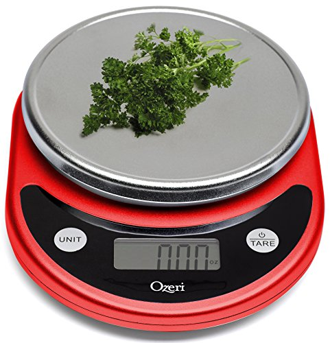 Red Kitchen Scales With Weights