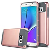 Galaxy Note 7 Case,Inspirationc Note 7 Shock Absorbing Dual Layer Protective Hybrid Rubber Bumper High Impact Rugged TPU Slim Fit Hard Case Cover Shell for Samsung Galaxy Note 7--Gray/Rose Gold
