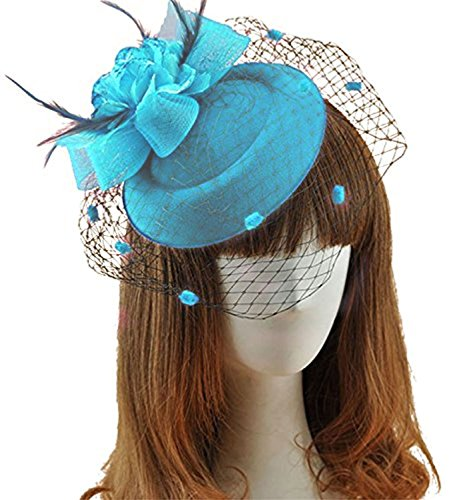 light blue feather clip - 7