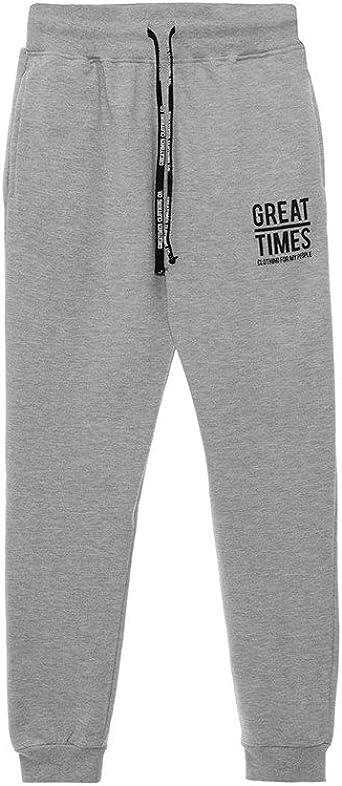 GREAT TIMES CLOTHING Pantalon Chandal Basic Gris - Color - Gris ...