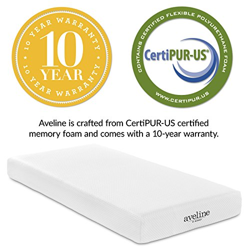 "Modway Aveline 8"" Gel Infused Memory Foam Twin Mattress With CertiPUR-US Certified Foam - 10-Year Warranty - Available In Multiple Sizes"