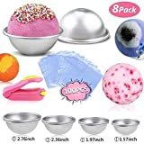 Buluri 8pcs 4 Size DIY Bath Bomb Mold Kits for Mother's Day Gift with 100 PCS Shrink Wrap Bags and A Mini Sealer for Bath Bomb Making, Handmade Soaps and Crafts