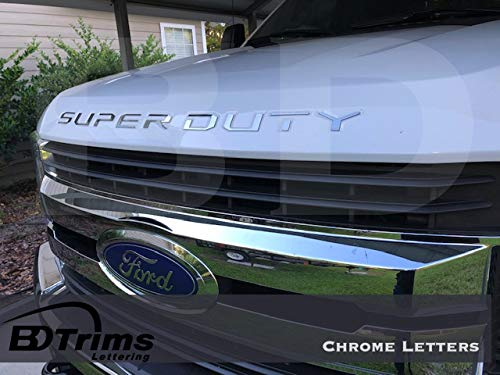 BDTrims | Grille Letters for Ford Super Duty 2017 2018 2019 Plastic Inserts (Chrome) ()