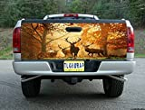 T78 DEER HUNTING BUCK TAILGATE WRAP Vinyl Graphic Decal Sticker F150 F250 F350 Ram Silverado Sierra Tundra Ranger Frontier Titan Tacoma 1500 2500 3500 Bed Cover tint image