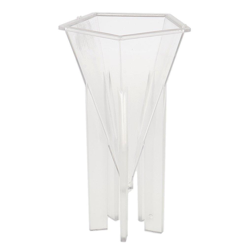perfk Moule /à Bougie En Plastique Moulinet Artisanat En Forme De Cone Outil De DIY 6,4 x 14 cm
