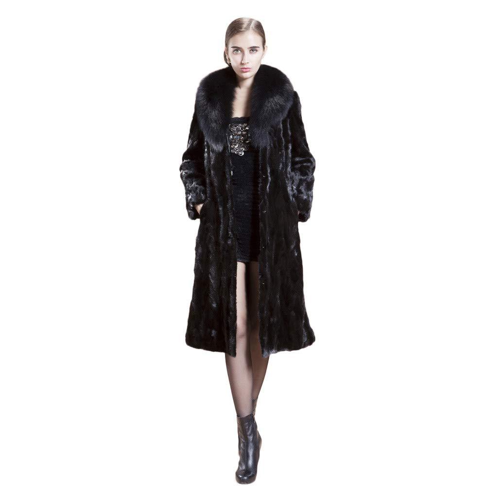 Luckycat Chaqueta de Abrigo de Piel sintética Larga y cálida para Mujer Chaqueta de Abrigo de Invierno para Mujer: Amazon.es: Ropa y accesorios