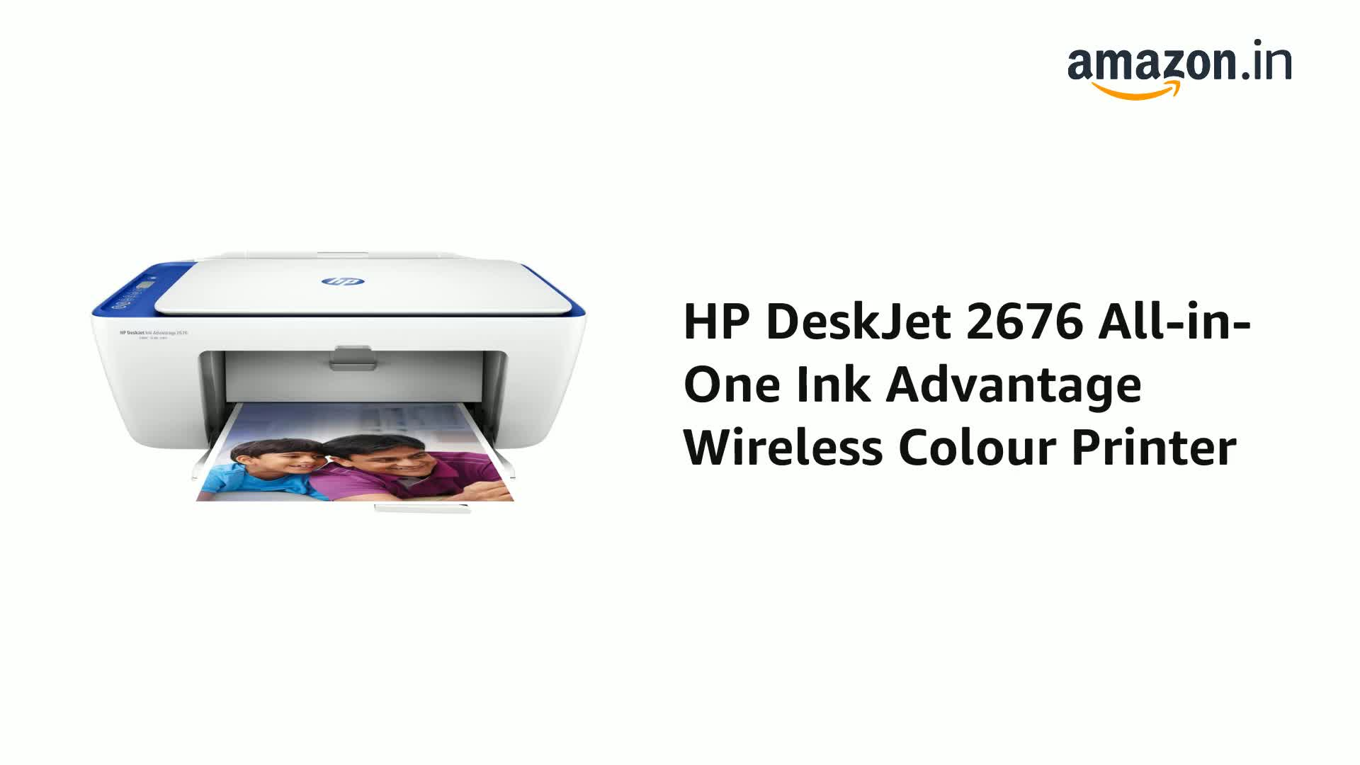 HP DeskJet 2676 All-in-One Ink Advantage Wireless Colour ...