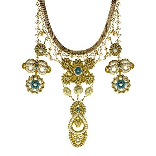 Sveva Collection femme    Laiton Rond   Turquoise Kristall
